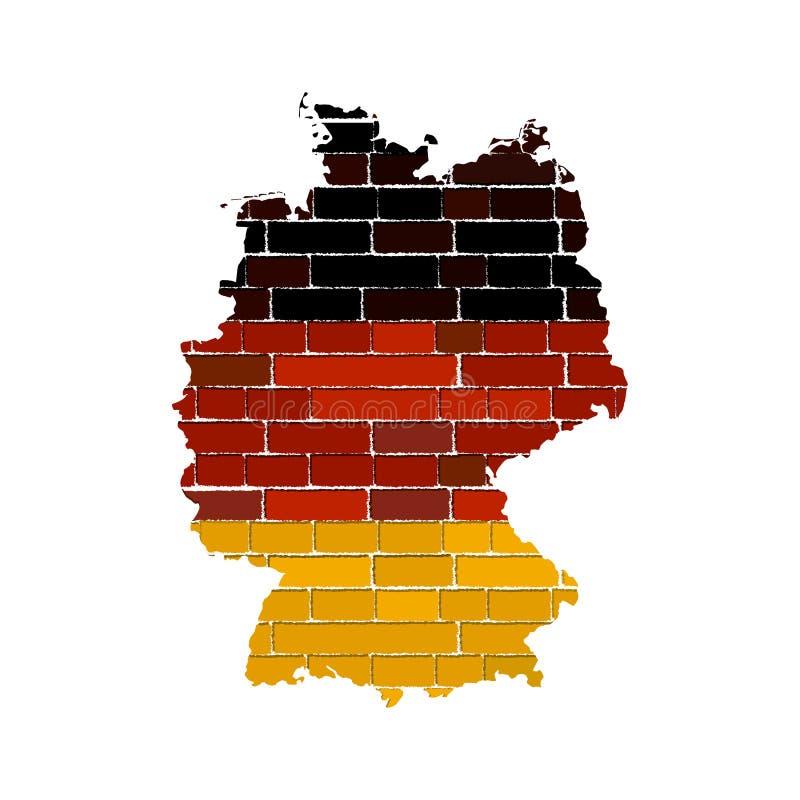 Duitsland van Grunge kaart stock illustratie