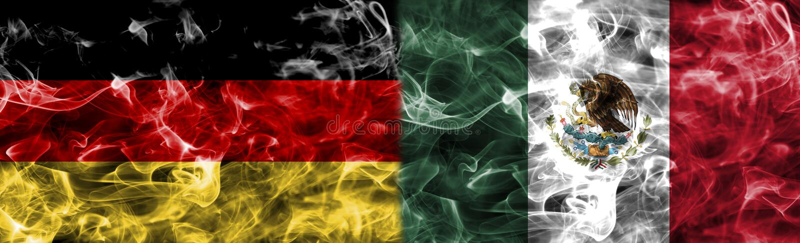 Duitsland versus de rookvlag van Mexico, groep F, Fifa-voetbalwereldbeker 2 vector illustratie