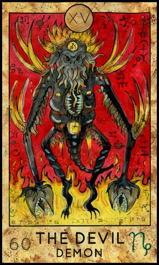 Duivel Demon van verschrikking royalty-vrije illustratie