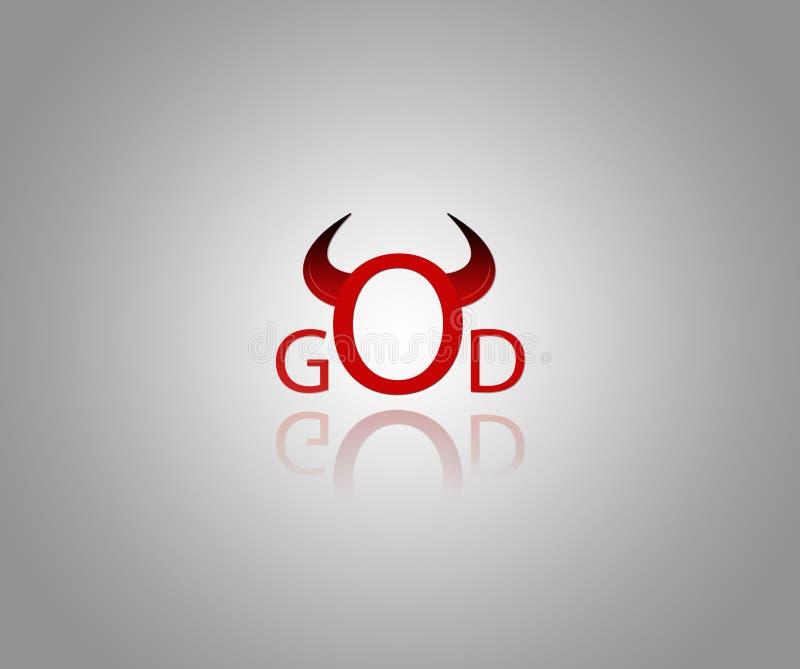 Duivel en God royalty-vrije stock foto