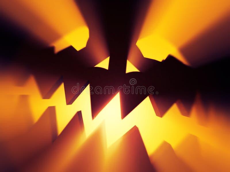 Duivel Halloween stock illustratie