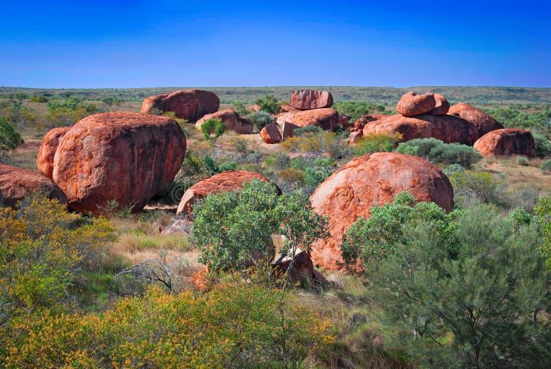 Duivelsmarmer, Noordelijk Grondgebied, Australië stock afbeeldingen