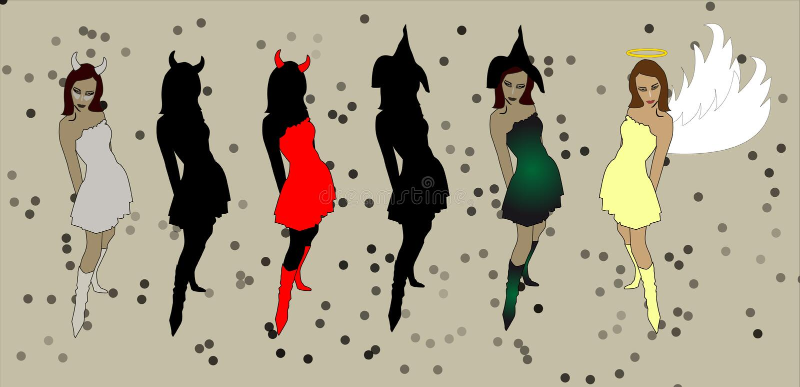 Duivelsmeisje stock afbeelding