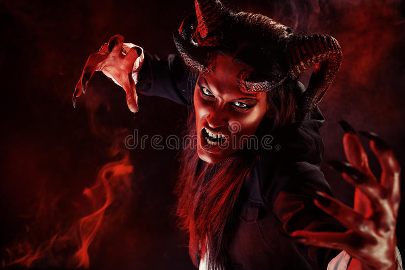 Duivelsportret stock afbeeldingen