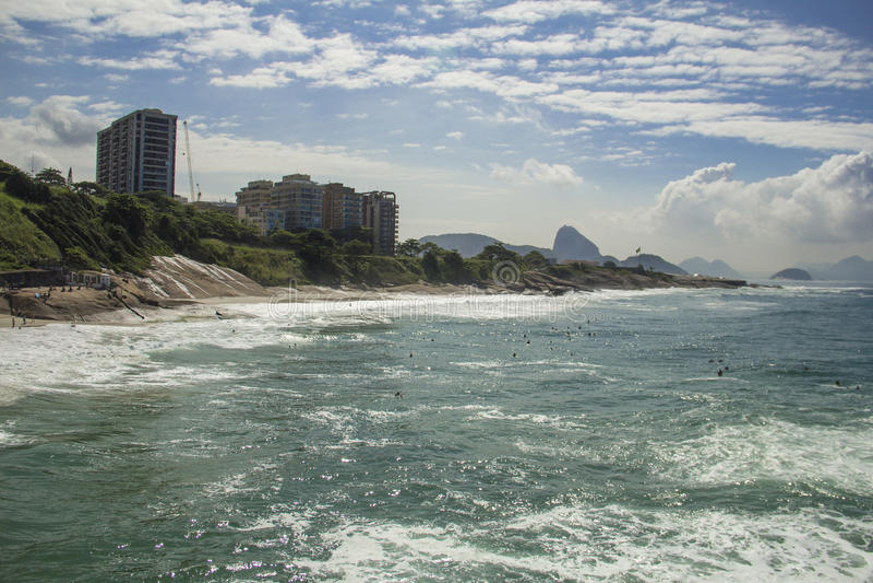 Duivelsstrand, Rio de Janeiro stock afbeelding