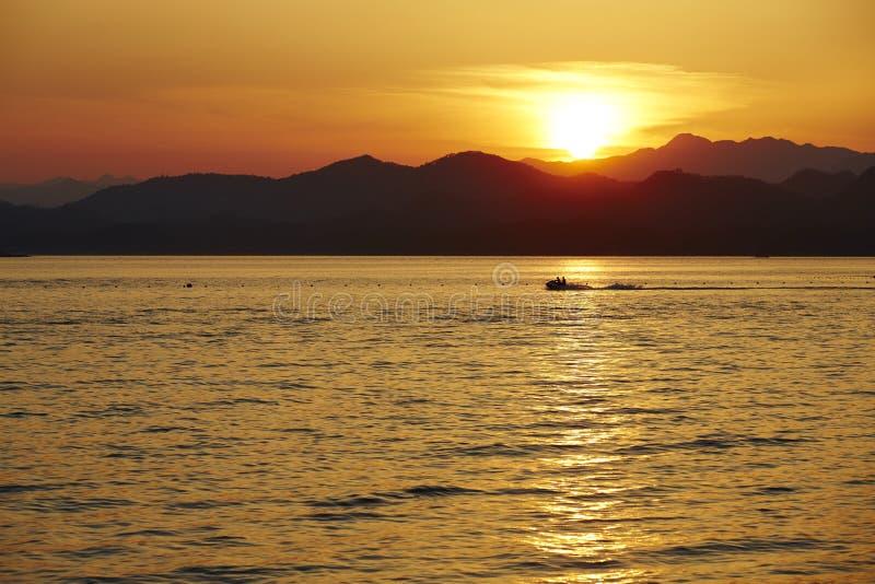 Duizend-eiland Meer, Hangzhou, China stock afbeelding