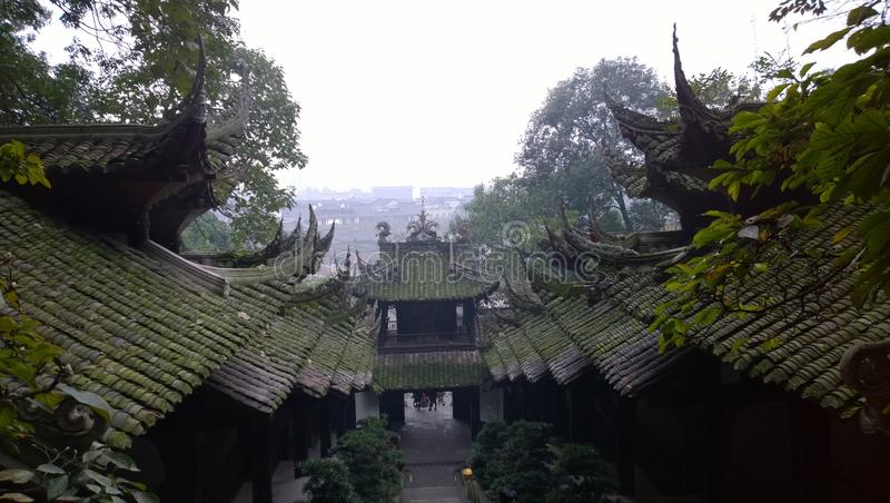 Dujiang yan. Dujiangyan, the world's cultural heritage (in 2000 was listed by UNESCO World Heritage list), the World Natural Heritage (Sichuan Giant Panda stock image