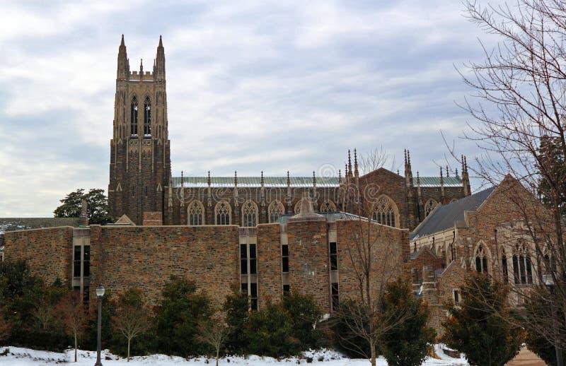 Duke Campus In Winter immagine stock