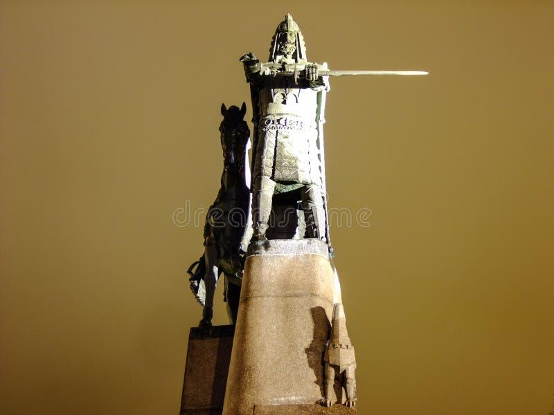 Duke Gediminas Sculpture grande foto de stock