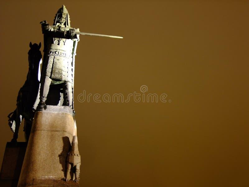 Duke Gediminas Sculpture grande fotos de stock royalty free