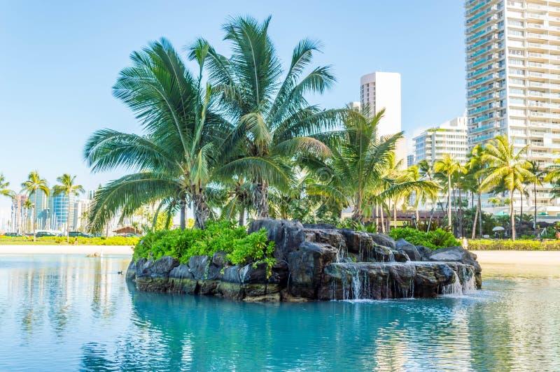 Duke Kahanamoku Lagoon royalty-vrije stock afbeelding