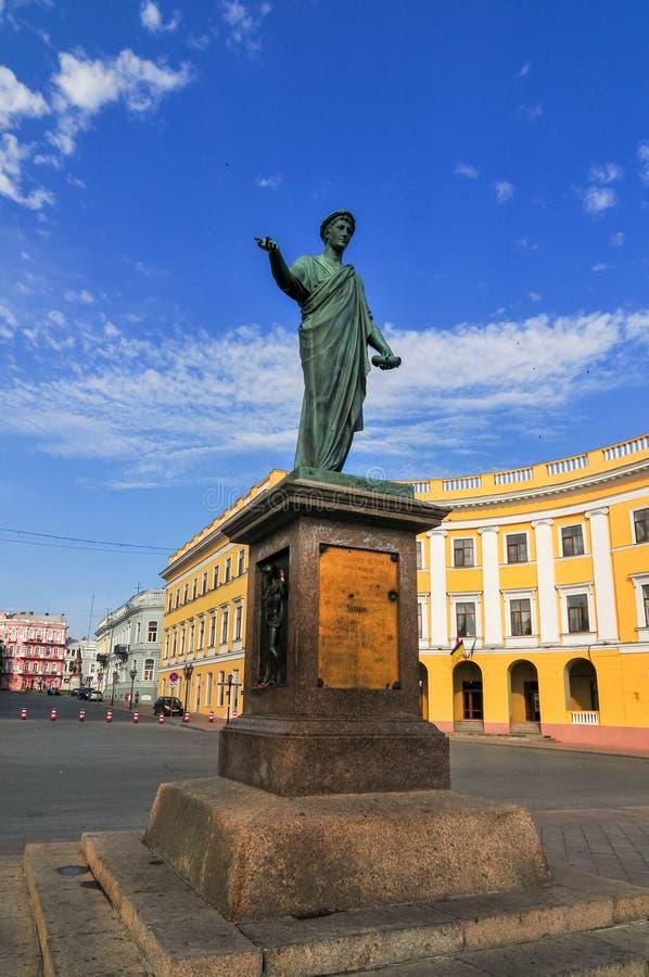 Statue of Duke Richelieu - Odessa, Ukraine stock images