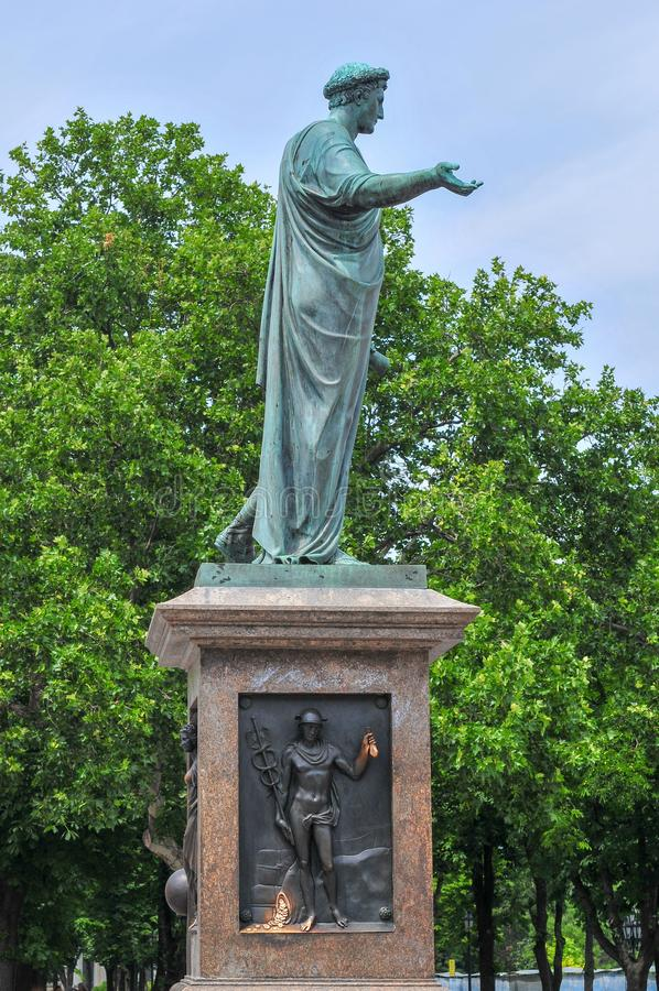 Statue of Duke Richelieu - Odessa, Ukraine. Duke Richelieu statue, Odessa`s first Mayor, in Odessa, Ukraine royalty free stock photography