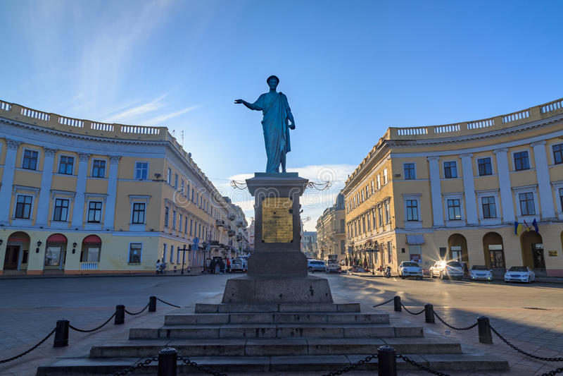 Duke Richelieu Statue in Odessa. royalty free stock photo