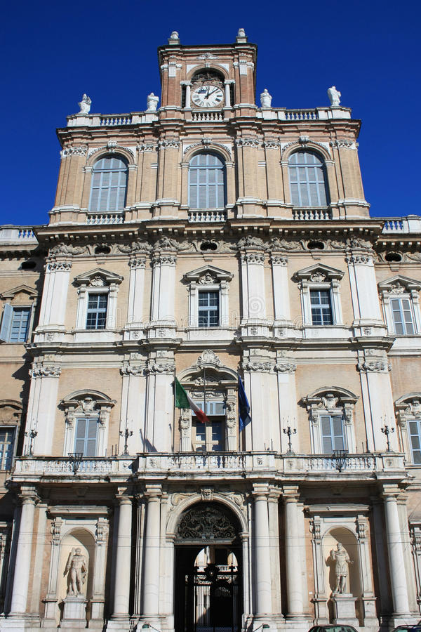 Duke's palace of Modena. The palace of the Italian military academy, once the palace of the Dukes of Modena royalty free stock images