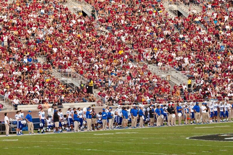 Duke University fotbollsspelare royaltyfri bild