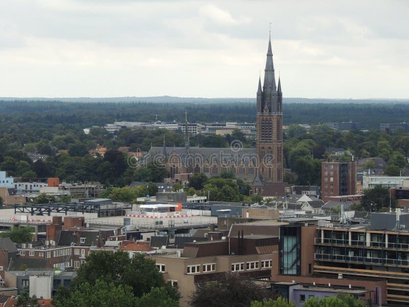 Dukt Hilversum, holandie z punktu zwrotnego Vitus kościół w środku obraz royalty free