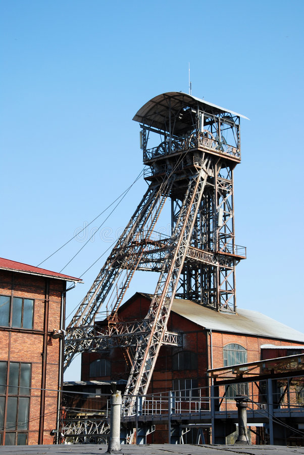 Dul Michal Ostrava. Mine tower Michal in Ostrava stock images