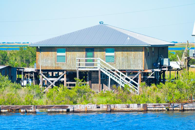 Dulac, Luizjana zalewisko fotografia stock