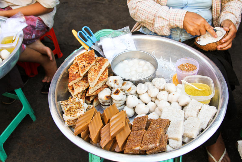 'Dulce Burmese tradicional de s foto de archivo libre de regalías