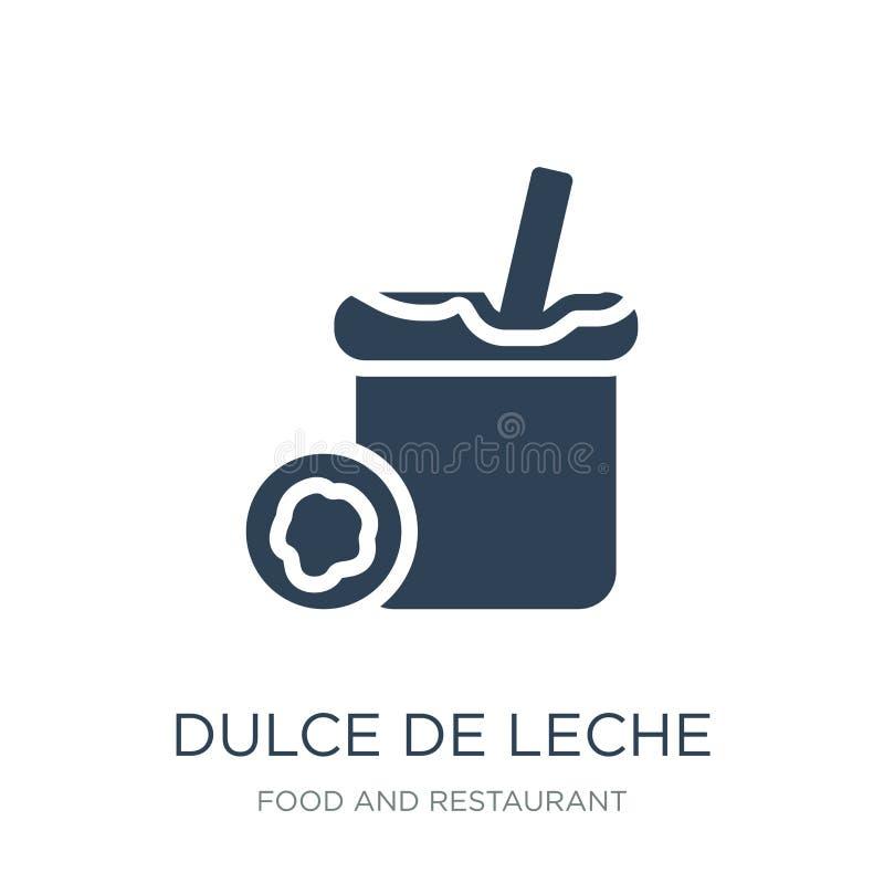 dulce de leche εικονίδιο στο καθιερώνον τη μόδα ύφος σχεδίου dulce de leche εικονίδιο που απομονώνεται στο άσπρο υπόβαθρο dulce d διανυσματική απεικόνιση