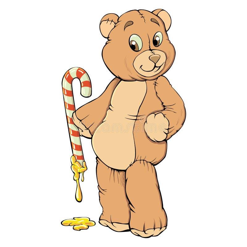 Dulce del oso de peluche ilustración del vector