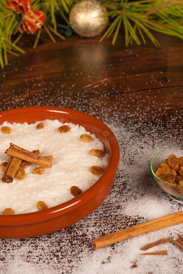 Dulce puertorriqueño de la estafa del arroz fotos de archivo