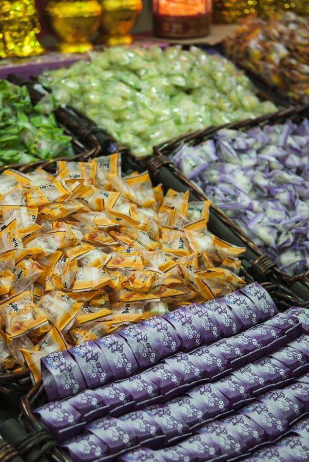 Dulces chinos en venta en Singapur imagen de archivo libre de regalías