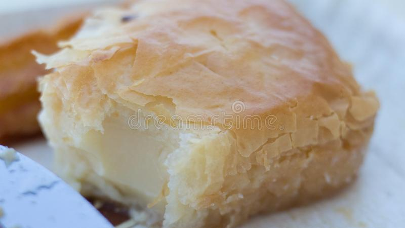 Dulces chipriotas - galatoubureku imagen de archivo