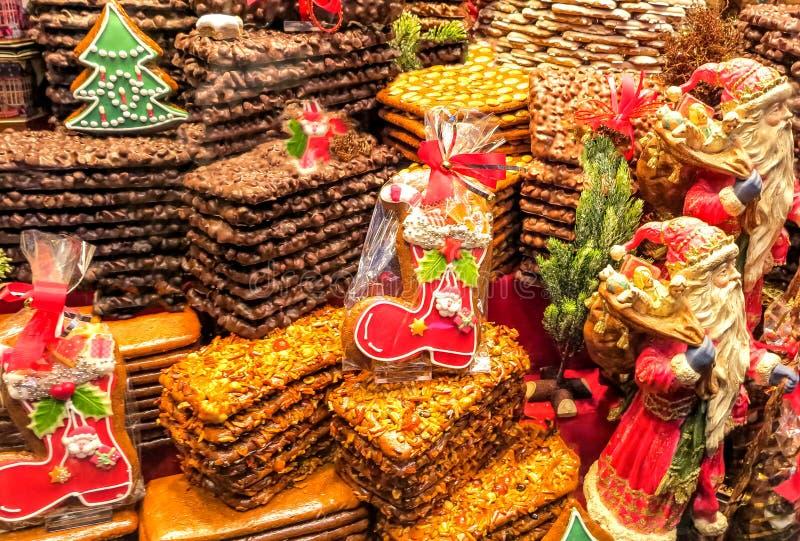 Dulces coloridos de la Navidad fotografía de archivo