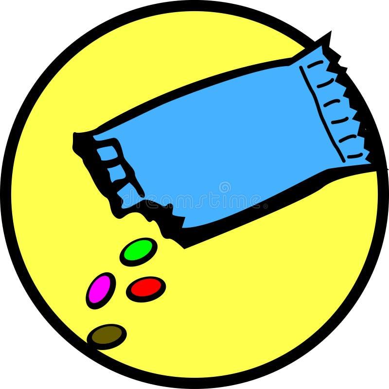 Dulces del caramelo de chocolate ilustración del vector