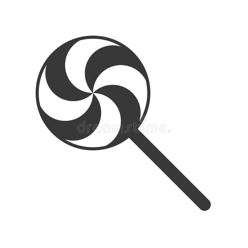 Dulces e icono sólido del caramelo, ejemplo del vector ilustración del vector