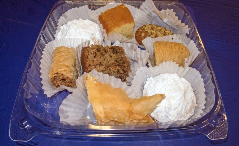 Dulces griegos de los pasteles de la variedad fotos de archivo