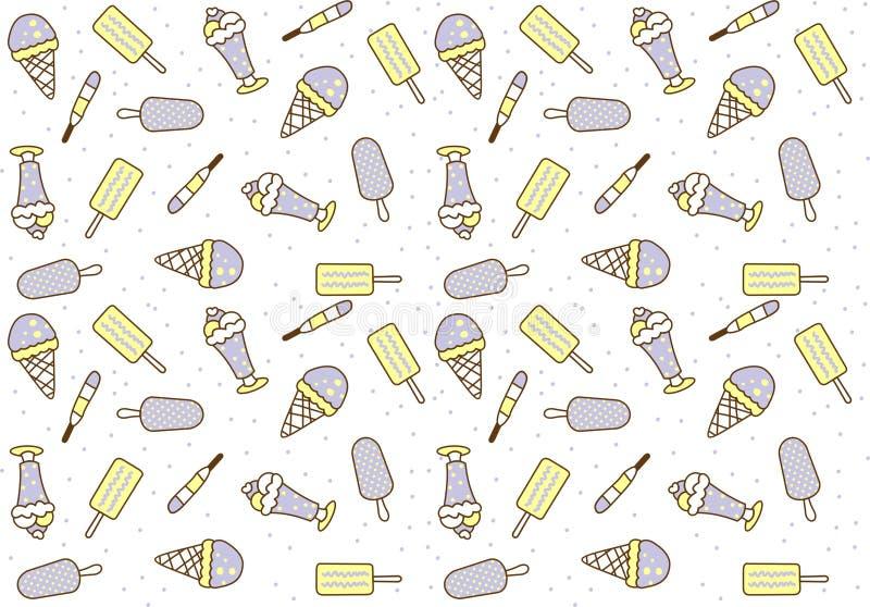 Dulces inconsútiles de los modelos del helado imágenes de archivo libres de regalías