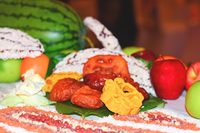 Dulces srilanqueses tradicionales del Año Nuevo de Sinhala y del Tamil fotografía de archivo