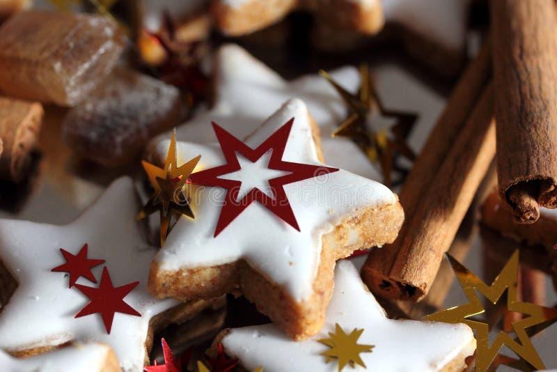 Dulces tradicionales de la Navidad fotos de archivo
