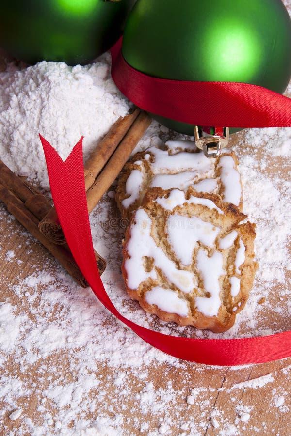 Dulces y pasteles de la Navidad imagenes de archivo