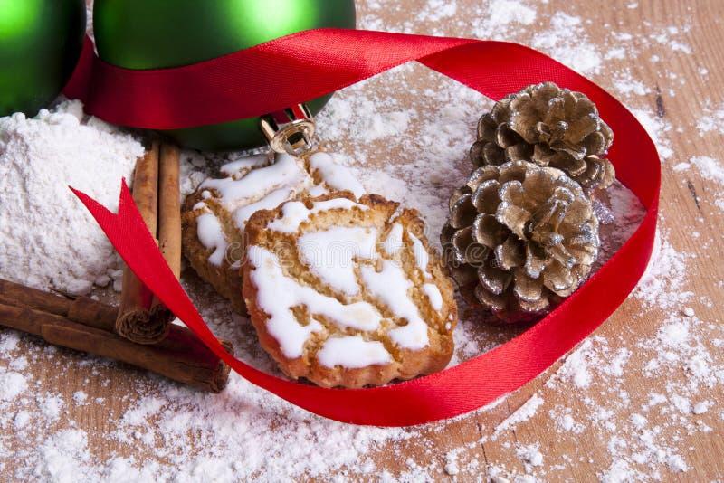 Dulces y pasteles de la Navidad fotografía de archivo libre de regalías