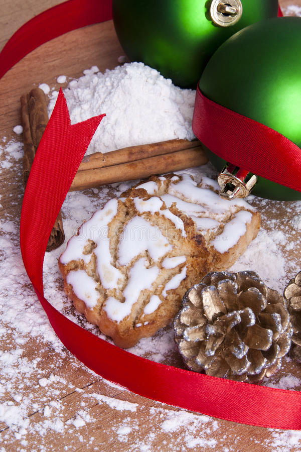 Dulces y pasteles de la Navidad fotografía de archivo