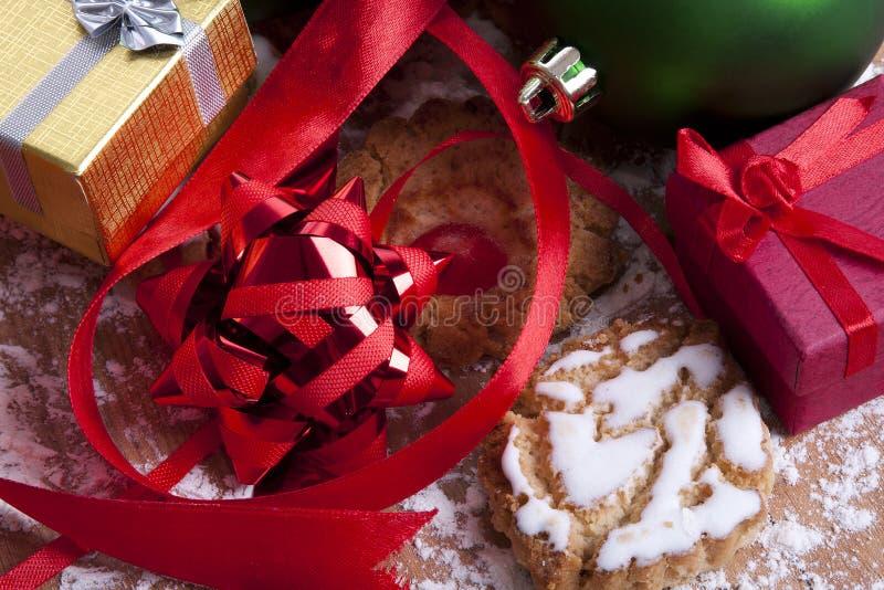 Dulces y pasteles de la Navidad fotos de archivo