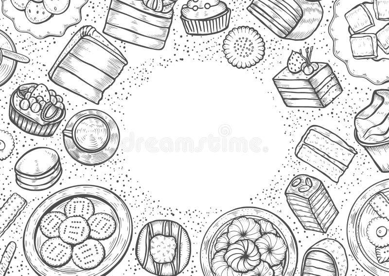 Dulces y sistema de la panadería libre illustration