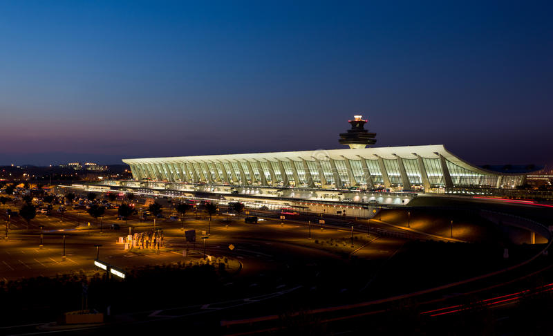 Dulles Airport At Dawn Near Washington DC Editorial Stock Image