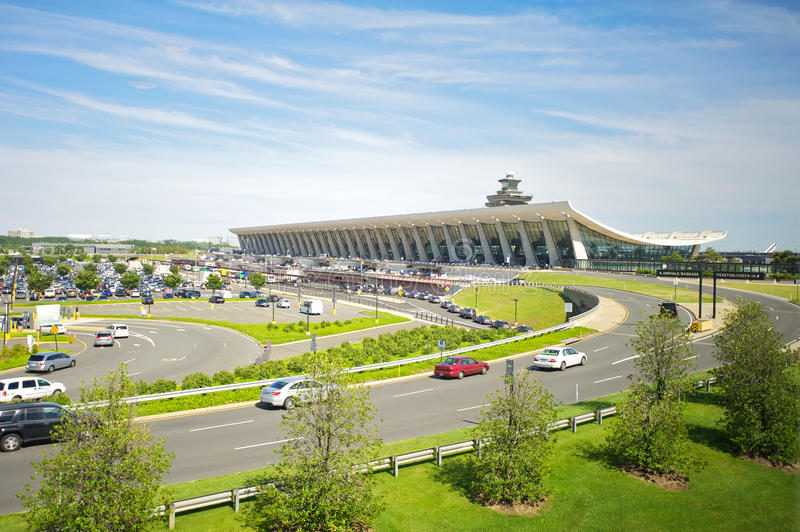 Dulles Internationale Luchthaven stock fotografie