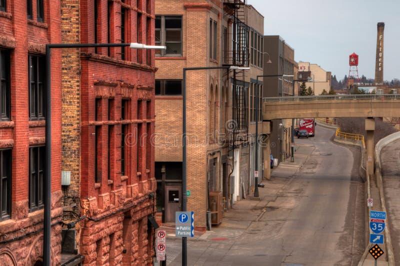 Duluth jest popularnym Turystycznym miejscem przeznaczenia w Górnym Środkowy Zachód dalej fotografia stock