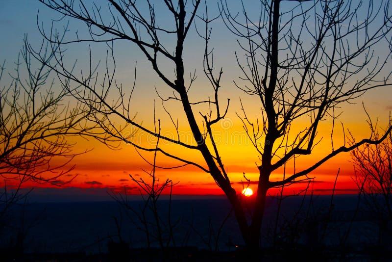 Duluth-Sonnenaufgang stockfoto