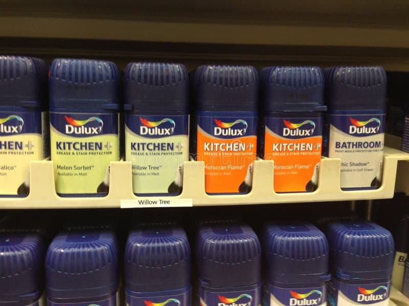 Dulux厨房或卫生间油漆 免版税库存照片