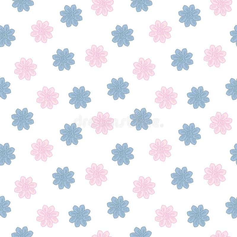 Dulzor floral inconsútil. stock de ilustración