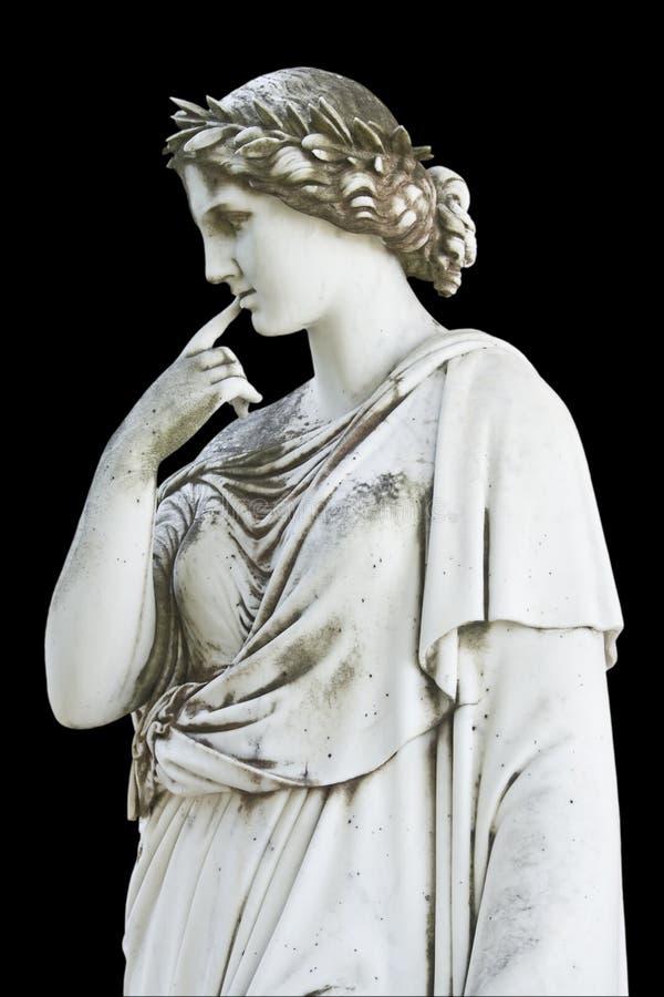 duma pokazać statuę greckiej obraz royalty free