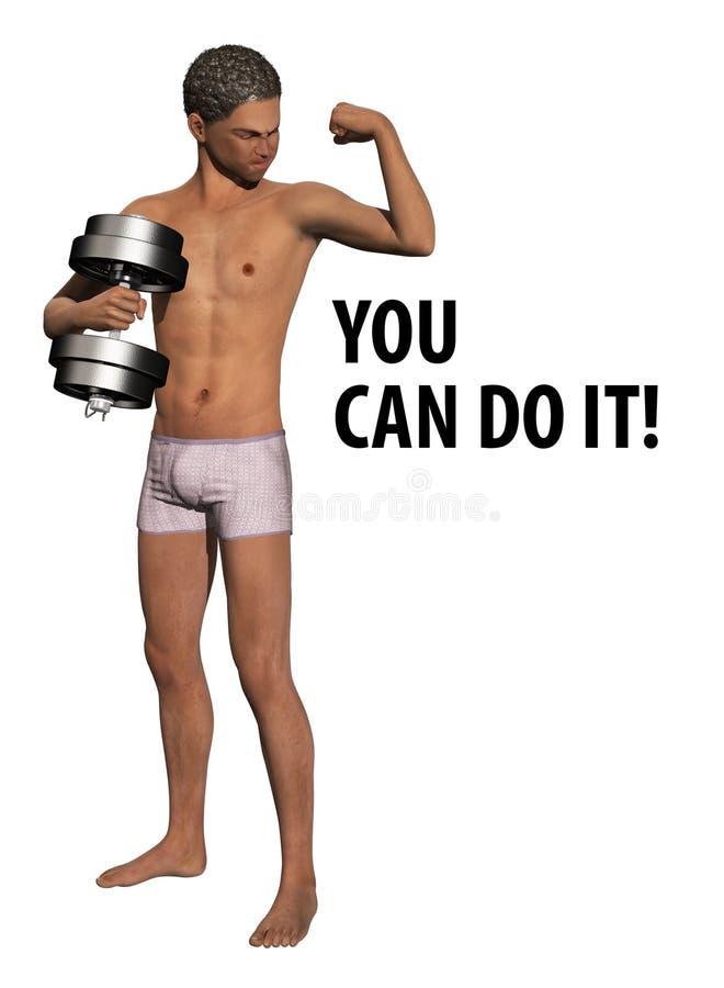 Dumb Bell Weight Training stock illustration
