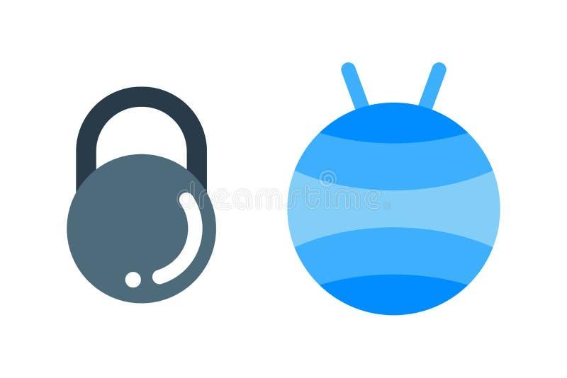 Dumbbell ćwiczenie obciąża gym sprawności fizycznej wyposażenia wektor ilustracja wektor